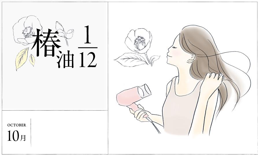 """椿油1/12 10月 乾燥で広がる髪をツヤ髪に仕上げる""""ドライヤーテクニック"""""""